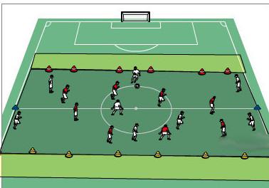 8 gegen 8 in der Mittelfeldzone