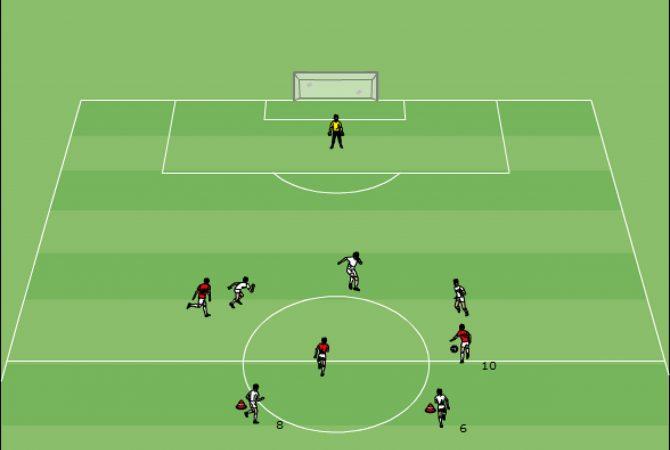 Schnelles Umschalten: Trainingsform 3 gegen 3 + 2