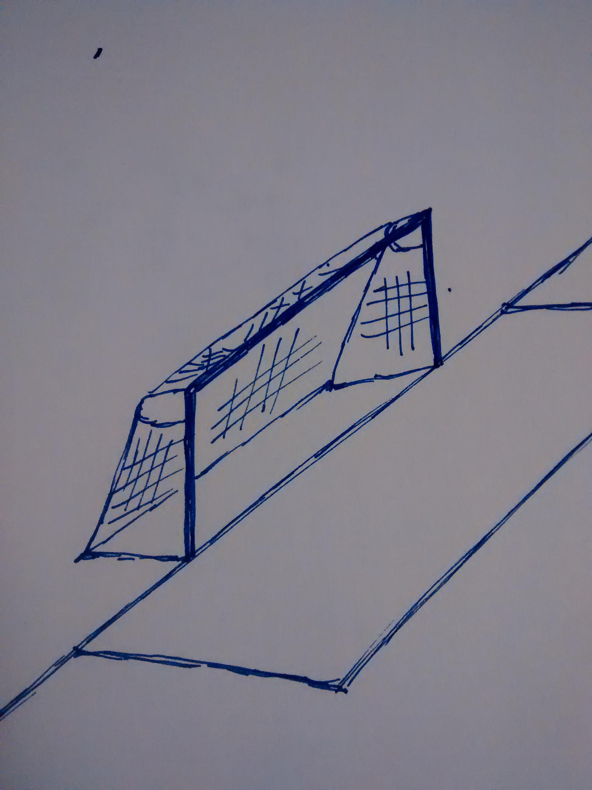 Zeichnung Fußballtor