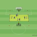 D-Jugend Training: Spielform 4 gegen 4 mit Zonen